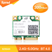 NEW for Intel Centrino Advanced-N 6235 6235AN Dual band 300Mbps Wireless Wifi Bluetooth BT 4.0 5GHz 2.4GHz half Mini PCI-E Card(China (Mainland))