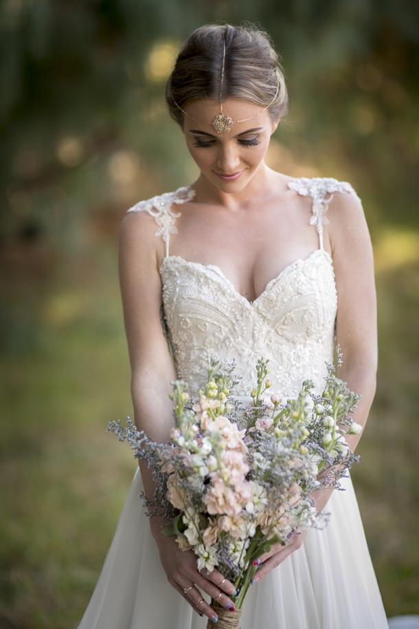 Bohemian Rustic Wedding 2015 Sweetheart With Appliques White Chiffon Wedding Dresses A Line