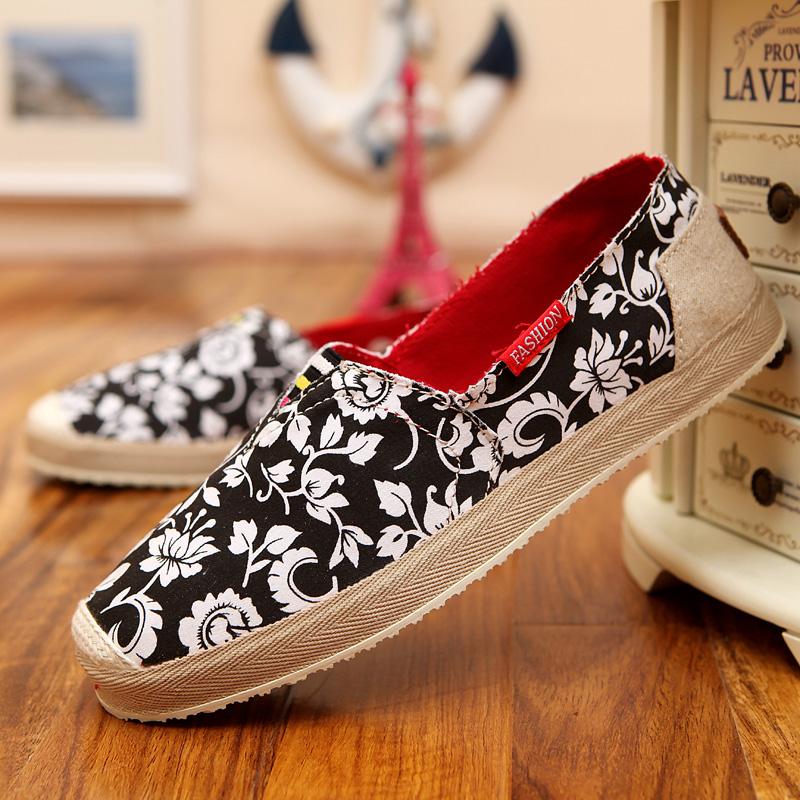 Nova moda feminina 2016 das mulheres Flats lona calçados casuais preguiçosos primavera verão condução calçados femininos Zapatos Mujer sapatos mulher