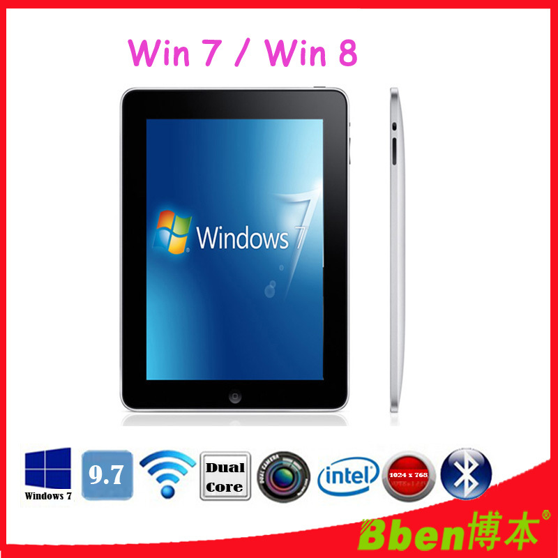 Free shipping ! Bben C97 original branded windows 7 tablet pc dual core intel cpu tablet pc 9.7inch windows 3G phone tablet(China (Mainland))