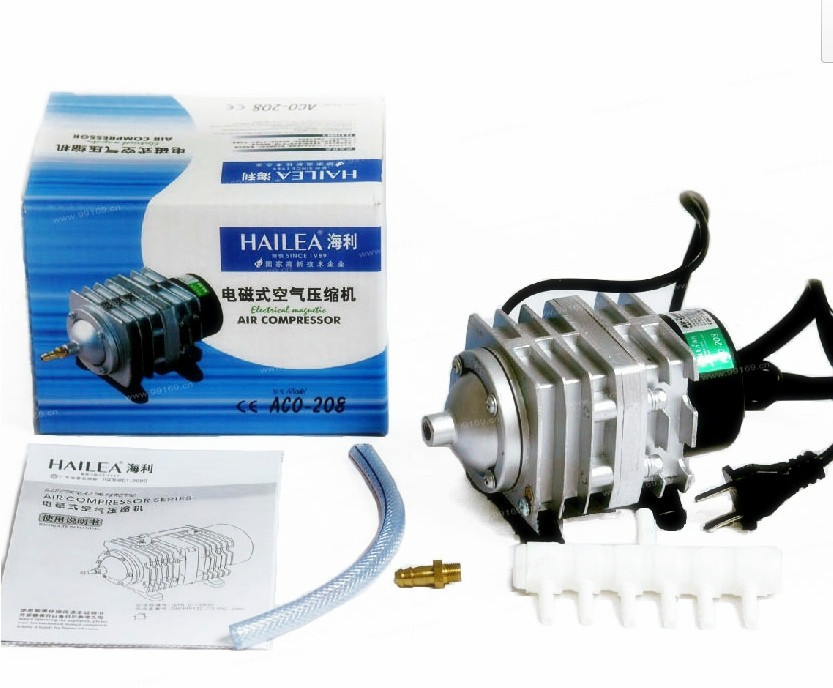 45L/min 25W Hailea ACO-208 Electromagnetic Air Compressor,aquarium air pump,aquarium oxygen pump AC 220-240V