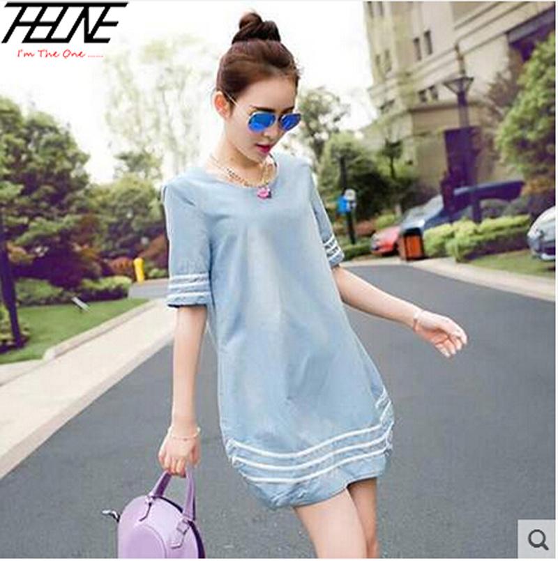 Blue Plaid Dress Dresses Light Blue M-xl