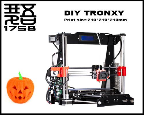 Горячие продажи reprap prusa i3 diy 3d принтер для печати размер: 210*210*210 мм 3d принтер diy комплект высокая точность diy kit