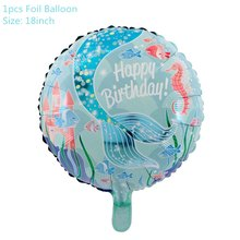 Little Mermaid Party Supplies Mermaid Balloon Banner Decoration Mermaid Birthday Party Favors Kids Birthday Parties Decorations(China)