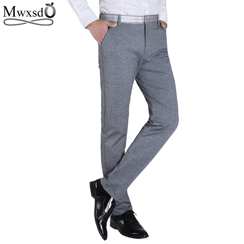 2016 Men's summer thin long breathing pants Straight Business Elasticity Pants Male Leisure Long Trousers(China (Mainland))