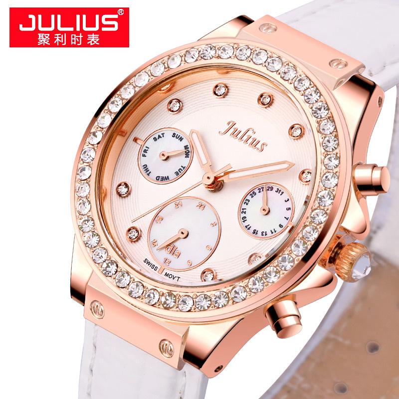 Julius New Lady Womens Wrist Watch Quartz Hours Best Fashion Dress Korea Shell LeatherSwiss Movement Girl Birthday Gift 815<br><br>Aliexpress
