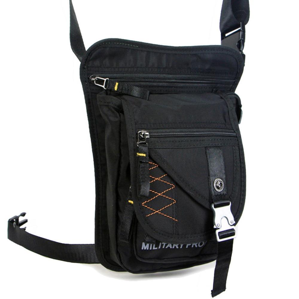 Men Waterproof Durable Nylon Outdoor Ride Leg Bag Hip Drop Motorcycle Riding Military Tactical Assault Belt Bum Fanny Waist Pack