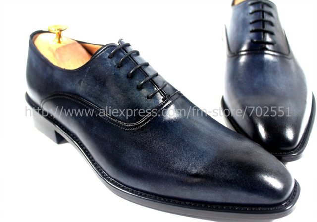 Dark Blue Dress Shoes Men