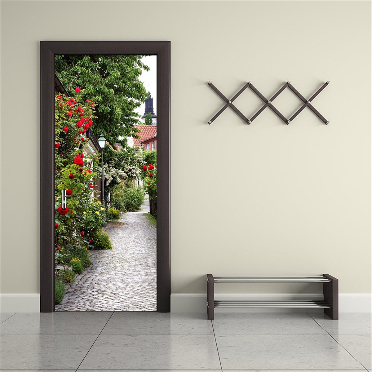 Bedroom door decoration promotion shop for promotional for Decoration porte sticker