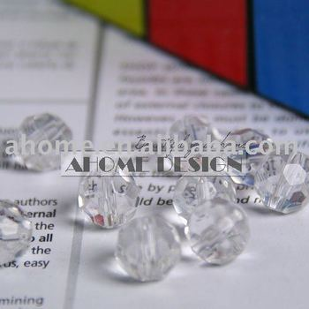 PROMOTION 720pcs 10mm 32 Cuts Clear Crystal Glass Beads Facet beads