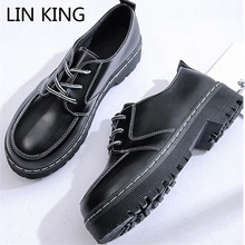 Buy LIN KING Platform Wedge Women Casual Pumps Fashion Anti-skit Thick Sole Single Shoes Sexy Comfortable High Heel Platform Shoes for $9.31 in AliExpress store