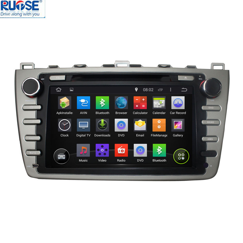 Capacitive Touch Screen 100% Android 4.4 Car DVD Player GPS Navigator For Mazda 6 2008-2012 With Built in WiFi 3G(China (Mainland))