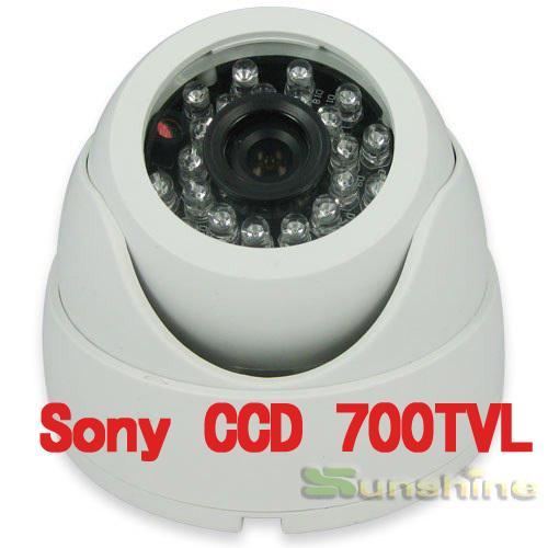 """Genuine 1/3"""" Sony CCD Effio-E 700TVL High Resolution 24PCS LED IR Indoor Dome Camera CCTV Camera(China (Mainland))"""