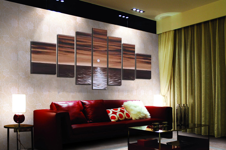 7 Panels Huge pt255 B2-SMALL Living Room Drawing room Modern Contemporary Abstract Sexy Character Oil(China (Mainland))