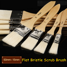 5Pcs/set Bristle Hair Painting Brushes For Oil Painting 120mm Crude Wood Handle Wall Acrylic Painting Art Supplies Stationery(China (Mainland))
