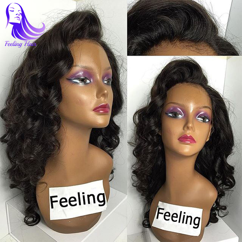 Cheap Full Lace Human Hair Wigs For Black Women 7A Brazilian Virgin Hair Glueless Full Lace Wigs,Lace Front Wigs With Baby Hair(China (Mainland))