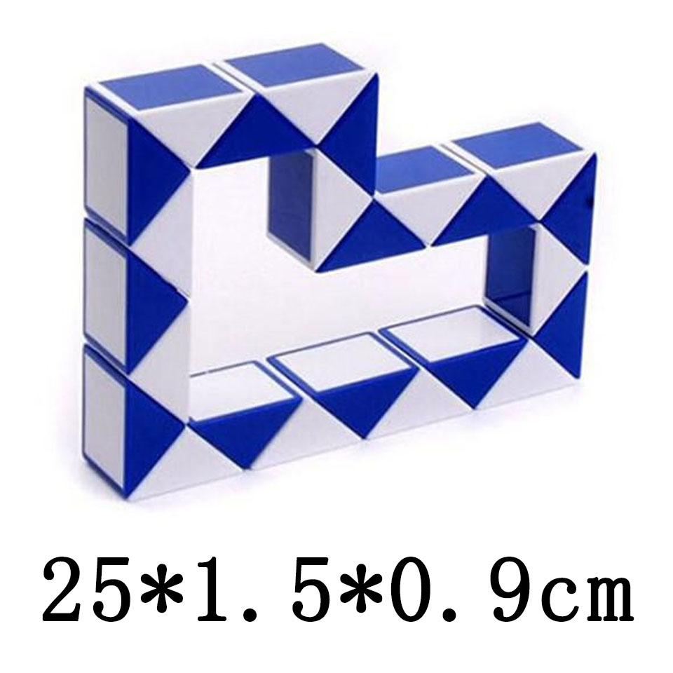 Education Puzzles Children Baby Kids Twist Puzzle Toys Magic Snake Shape Toys Game 25CM 3D Cube 5 Colos Puzzles Wholesale MBF24(China (Mainland))