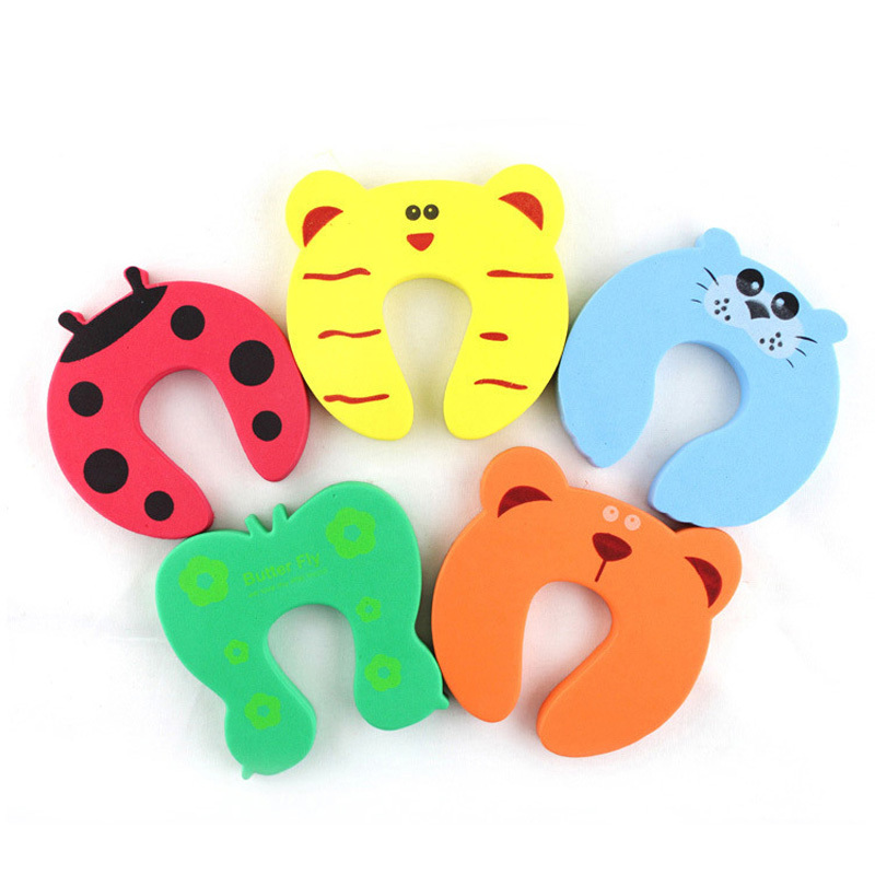 Hot Cute Animal Cartoon Baby Safety Door Stopper Baby Protecting Product Children Safe Anticollision Corner Guards 10pcs/lot(China (Mainland))