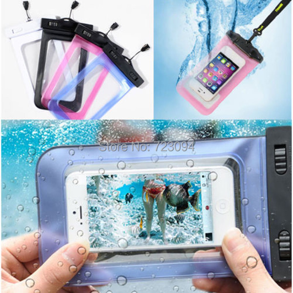 Promotion NEW Waterproof Bag Underwater Phone Pouch Dry Case Cover For Iphone 4 4S 5 5S 5C 6 Samsung GALAXY I9220 S2 S3 S4 EC138(China (Mainland))