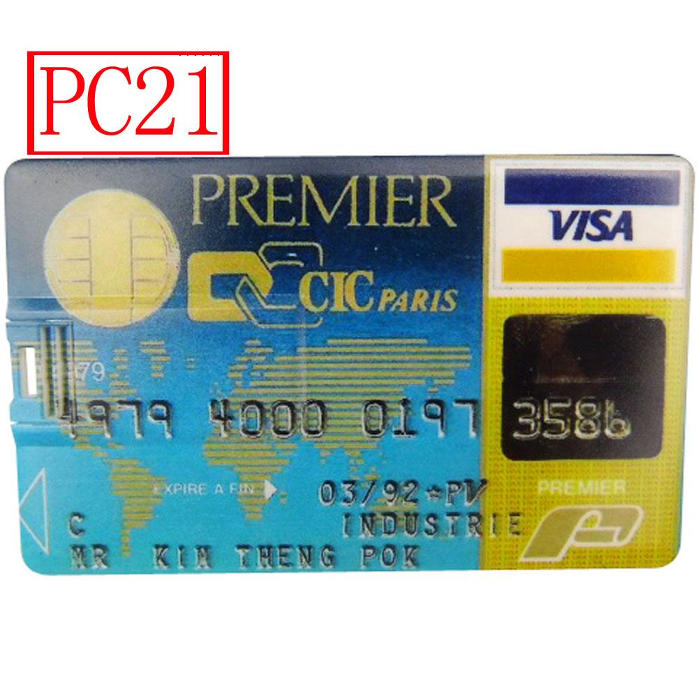 Bank Credit Card Shape USB Flash Drive 128mb 256mb 512mb 2gb USB 2.0 Pen Drive 1gb Memory Stick U Disk 10pcs Different(China (Mainland))