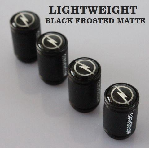 Free Shipping Car Styling Opel Emblem Badge Wheel Tire Valve Caps Black Lightweight Tyre Dust Cap(China (Mainland))