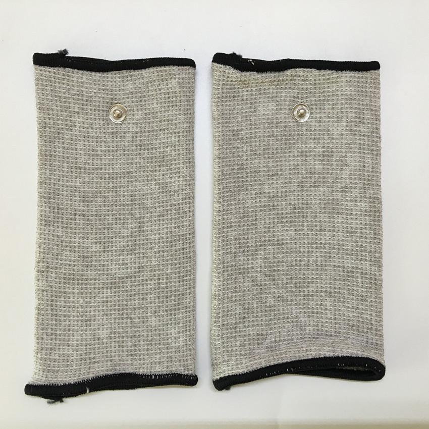 Freeshipping 2pcs Silver fiber Electrode massage Wrist/knee/Socks,prevent rheumatism,electrode stimulation TENS/EMS accessories(China (Mainland))