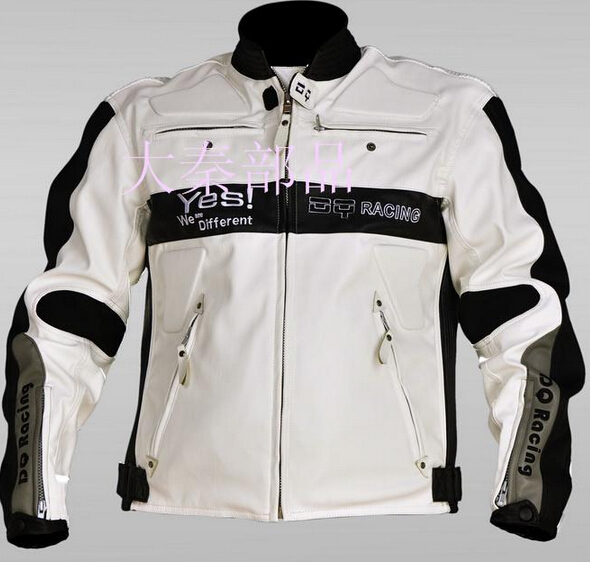 The new Four Seasons jersey motorcycle racing suits men PU leather motorcycle jacket in black color(China (Mainland))