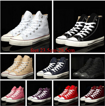 Men's canvas shoes 2015 Dropship shoes for women, Men's 9 classic colors high canvas shoes, casual shoes wholesale, Size 35-45(China (Mainland))