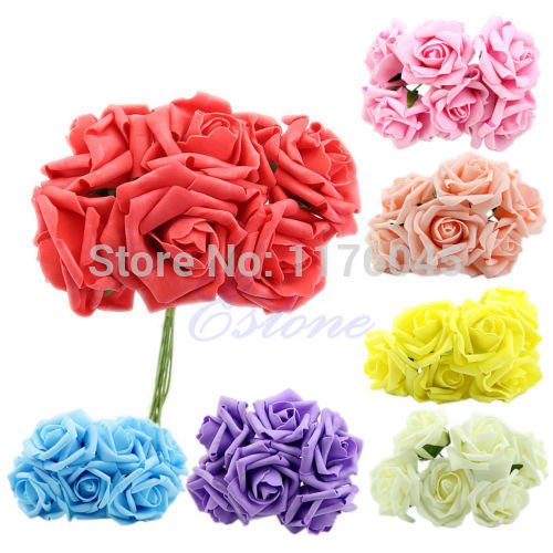 S72 1pcs Wedding Bouquet Latex Rose Flower Head Posy Party Bridal Bridesmaid Decor free shipping(China (Mainland))