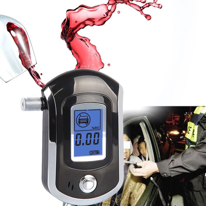 Professional Mini Police Digital LCD Breath Alcohol Tester Digital Breathalyzer Analyzer Mouthpieces(China (Mainland))
