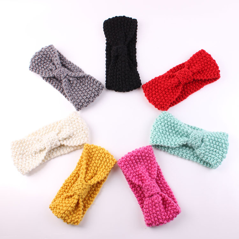 Susan' Turban Ear Winter Warm Headband Crochet Knitted Hairband Headwrap Hair Band Accessories for Baby Girl Infant Kid Toddler(China (Mainland))