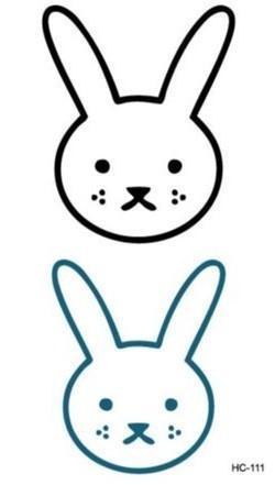 Cartoon rabbit face - photo#22