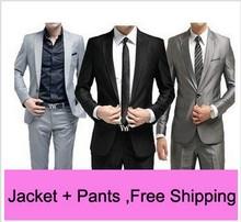 Moderné pánske nohavice a sako z Aliexpress