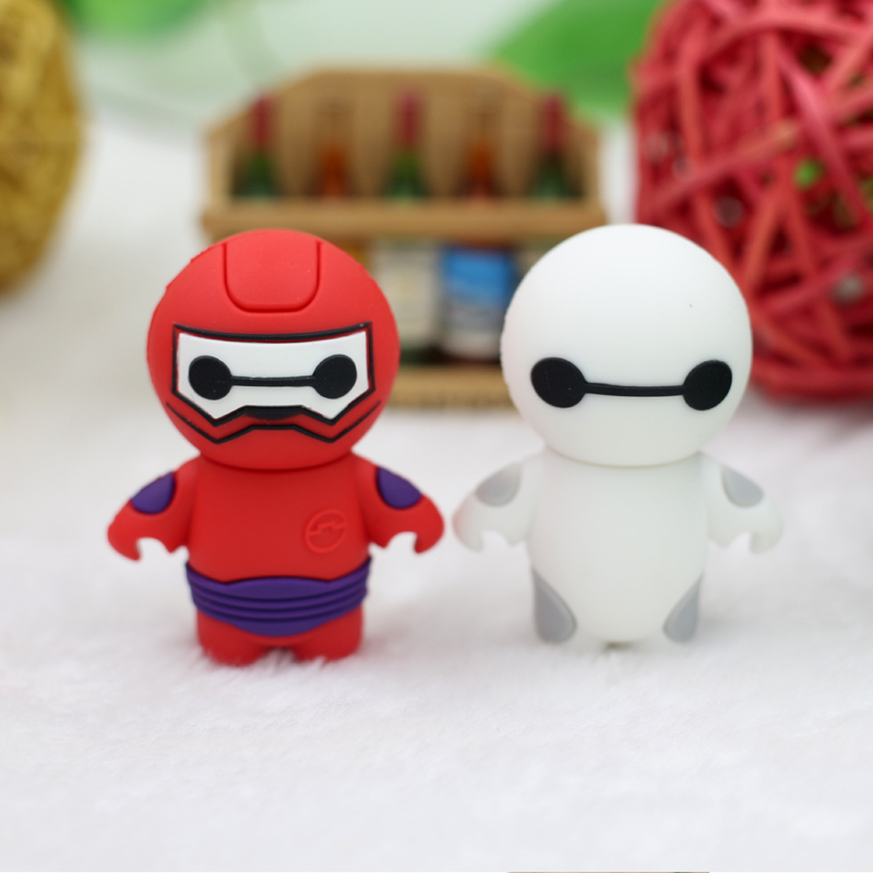 USB Flash Drive Big Hero 6 USB Pen Drive 32GB 16GB 8GB 4GB Pendrive Memoria USB Stick Flash Card PVC Memory Stick Free ship(China (Mainland))
