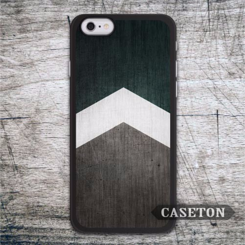 Green Wood Arrow Classic Case For iPhone 7 6 6s Plus 5 5s SE 5c and For iPod 5 High Quality Ultra Phone Cover Free Shipping