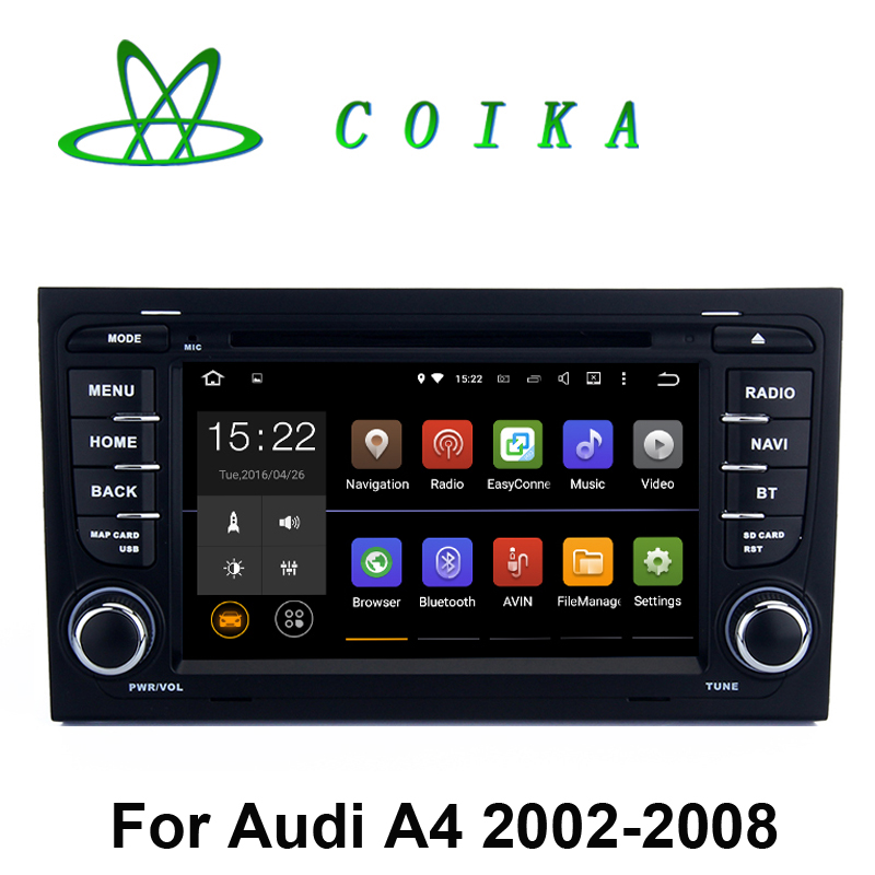 Quad Core Android 5.1.1 Car Auto Radio Stereo For Audi A4 2003-2013 DVD GPS Navi WIFI 3G Google RDS HD 1024*600 Touch Screen(China (Mainland))