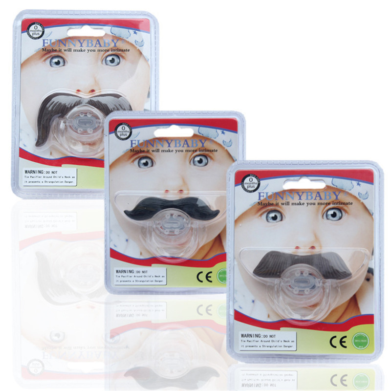 Mustache Chupeta Baby Pacifier Dummy Nipple For Infant Silicone Teethers Toddler Pacy Orthodontic Teat Gift Package