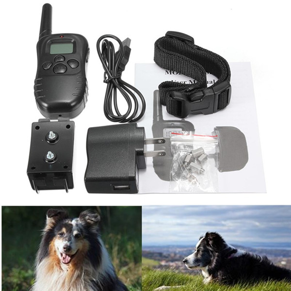 Newest Best Promotion 300M Rechargeable And Waterproof Shock Vibra Remote Control LCD Electric Pet Dog Training Collar(China (Mainland))