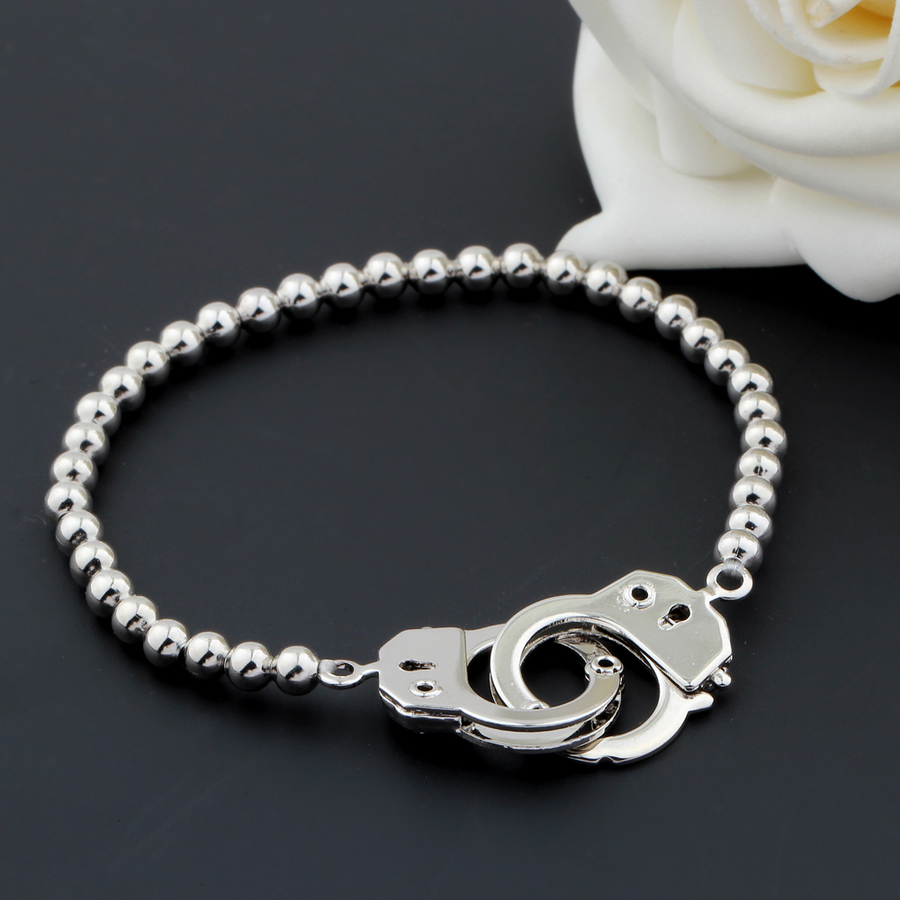 new bracelet charms armband mannen copper bead handcuffs