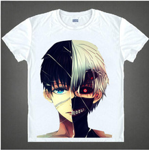New Fashion Tokyo Ghoul T-Shirt Anime Ken Kaneki Cosplay T Shirt Men women breathable Short Sleeve Tee 07