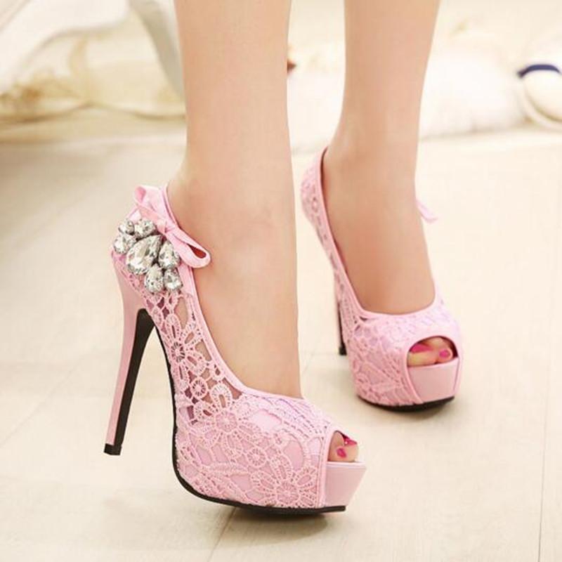 2016 New 14 Cm Women Pumps Y Party Heels Platform Shoes Size 12 High