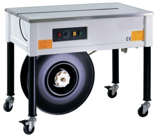 Semi-automatic strapping machine with vertical adjustable legs, plastic strap bander,carton tension strap banding sealer