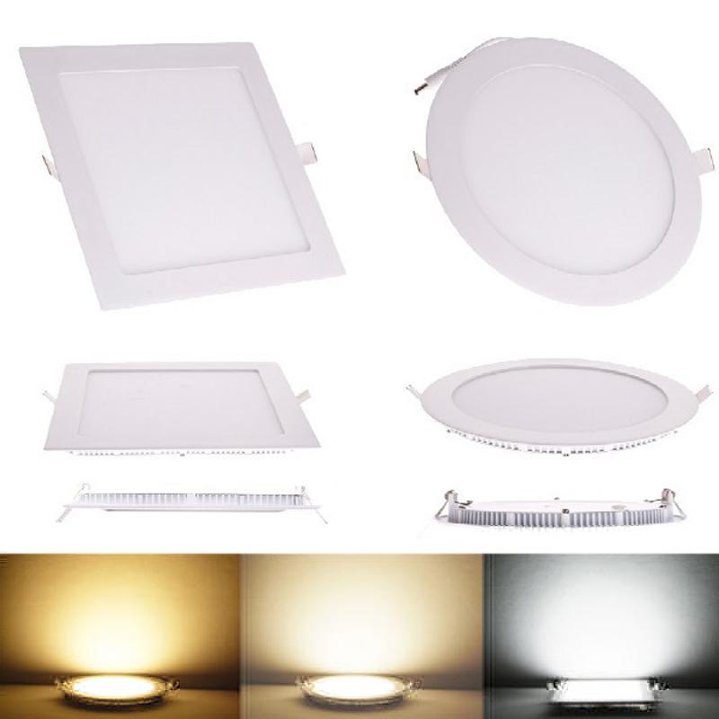 10pcs 3w 6W 9W 12W 15W 18W 24W Square LED panel downlight ultra thin LED ceiling recessed panel light AC85-265V led bulb lamps(China (Mainland))
