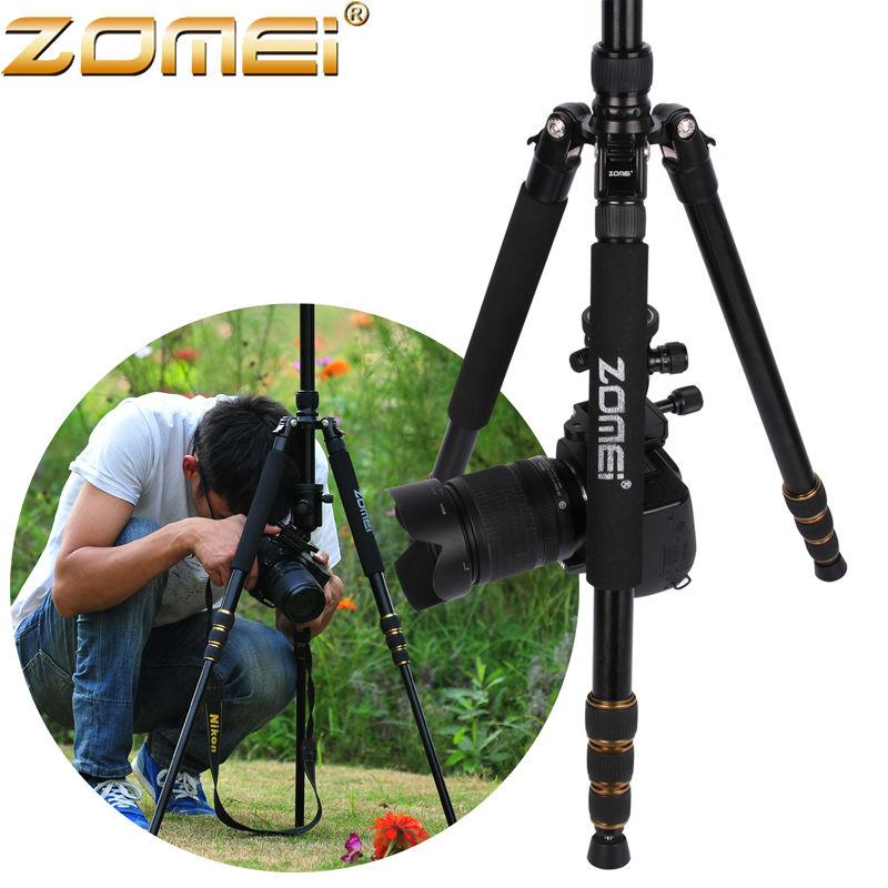 Zomei Z688 Aluminum Professional Photographic Compact Travel Portable Tripod Monopod&Ball Head For DSLR camera SLR camera stand(China (Mainland))