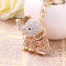 Elefantes de cristal Chaveiro Keychain do Metal Da Forma Bolsa do Saco Da Bolsa Pingente Chaveiro Fivela de Acessórios Titular Presente R031(China)