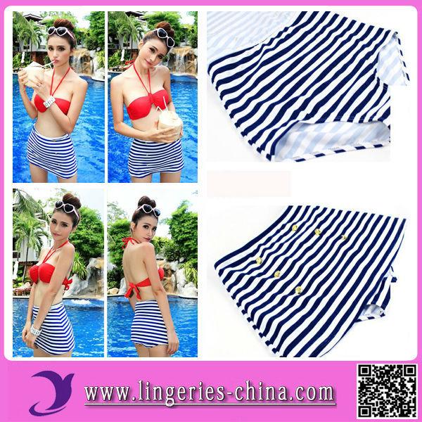Latest High Waist Fashion Bikini Swimwear(China (Mainland))