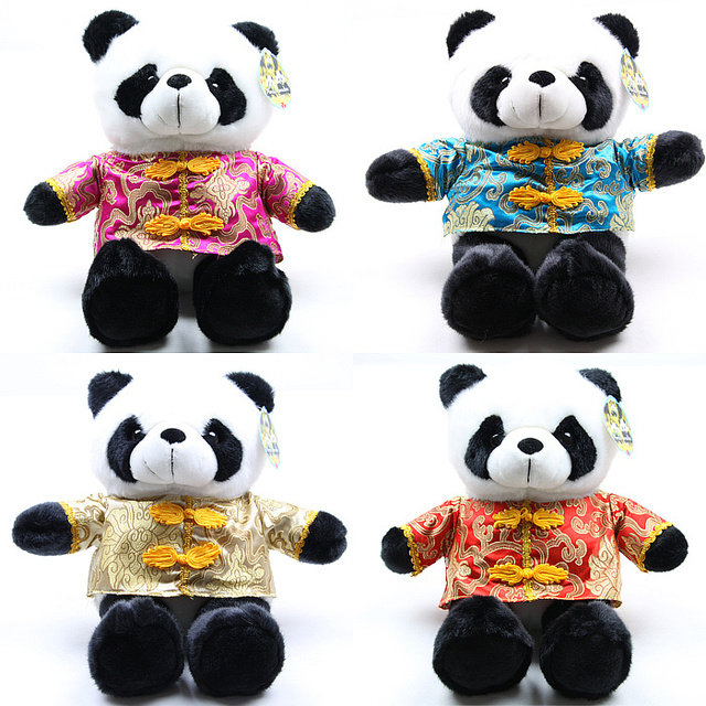 Tang suit doll giant panda plush toy birthday gift
