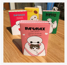 New Arrival Big Hero 6 The Baymax 4 Folding Memo Pad Notebook Sticky Notes Papelaria Memo Notepad Promotional Gift Stationery(China (Mainland))