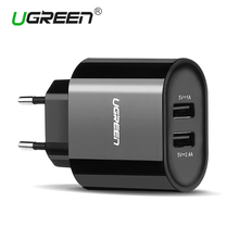 Ugreen 5V3.4A Universal USB Charger Travel Wall Charger Adapter Portable EU UK Plug Smart Mobile Phone Charger for iPhone Tablet(China (Mainland))