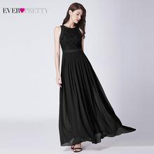 Vestidos de Noite longos 2019 Sempre Bonita Elegante Beading A Linha de Chiffon Plissado Rendas Vestido Formal Partido Vestido EP07391 robe de sarau(China)